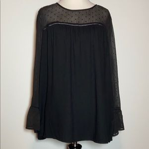 Old Navy Black Long-Sleeved Top, Size M, Like New